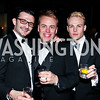 """Stephane Courret, Chad Damein, Taylor Toland. Photo by Tony Powell. HRC Inaugural Ball """"Out for Equality."""" Mayflower Hotel. January 21, 2013"""