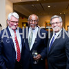 Greg Craig, Amb. Johnnie Carson, NDI President Kenneth Wollack. Photo by Tony Powell. 2013 NDI Democracy Dinner. Ritz Carlton. December 10, 2013