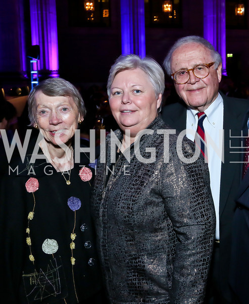 The Children's Inn at NIH CEO Kathy Russell with the evening's philanthropic honorees. Photo by Tony Powell. WL The Children's Inn at NIH 25th Annual Congressional Gala. Mellon Auditorium, October 1, 2013
