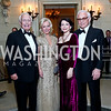 Mandy and Mary Ourisman, JoAnn and John Mason. Photo by Tony Powell. 45th Annual Meridian Ball. October 18, 2013