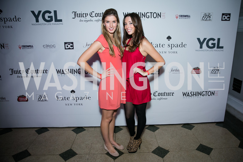 Molly Colehoewen, Emma Anzelone. Photo by Alfredo Flores. The Young and The Guest List Party 2013. Carnegie Library. December 11, 2013.