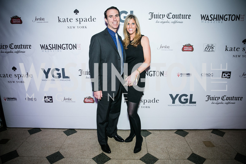 Jason Amem, Lisa Gillman. Photo by Alfredo Flores. The Young and The Guest List Party 2013. Carnegie Library. December 11, 2013.