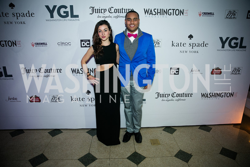 Sophie Blake, Joel Cas. Photo by Alfredo Flores. The Young and The Guest List Party 2013. Carnegie Library. December 11, 2013.