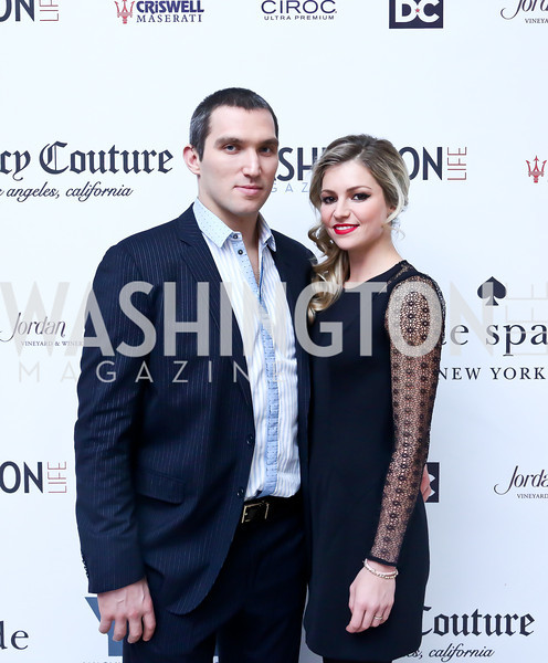 Alexander Ovechkin and fiancee Maria Kirilenko. Photo by Tony Powell. 2013 YGL. Carnegie Library. December 11, 2013