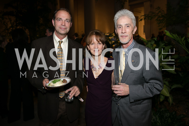Mike Pannell, Deborah Ziska, Dan Hamm. Photo by Alfredo Flores. Viewing and Reception in honor of Heaven and Earth  Art of Byzantium from Greek Collections. National Gallery of Art. December 3, 2013.
