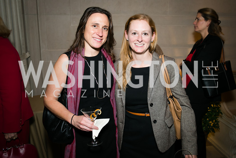 Lisa Revitte, Laura Cunningham. Photo by Alfredo Flores. Viewing and Reception in honor of Heaven and Earth  Art of Byzantium from Greek Collections. National Gallery of Art. December 3, 2013.