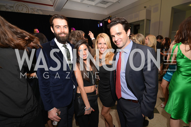 Nick Karnaze, Ava Deylami, Tracy Branding, Jake Kusack, Washington Life Magazine hosts the 8th Annual Young and the Guest List party at the Carnegie Library.  Photo by Ben Droz.