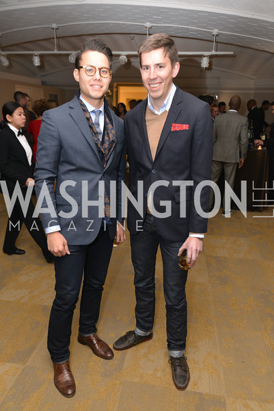 Philip Soriano, Andrew Carlton, Washington Life Magazine hosts the 8th Annual Young and the Guest List party at the Carnegie Library.  Photo by Ben Droz.