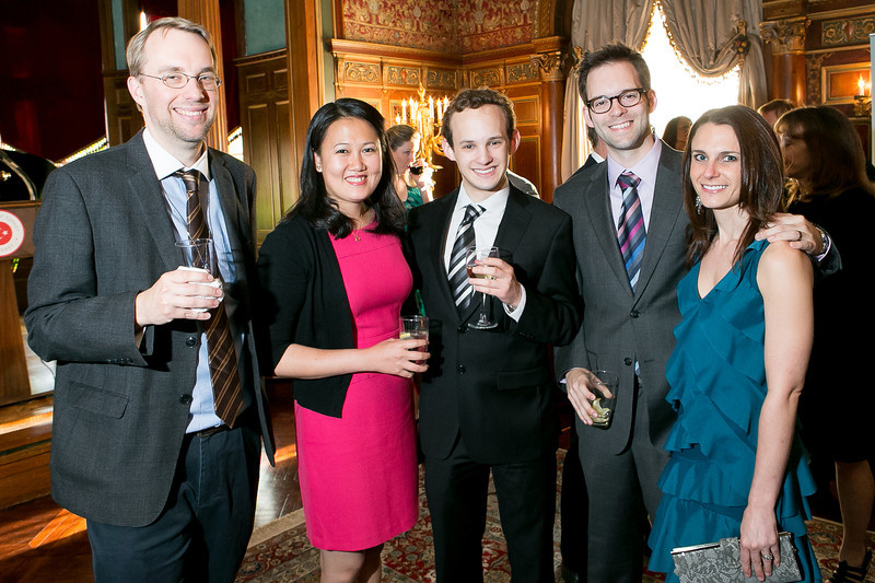 Erik Wasson, Moryvan Ly, Alex Lazar, Megan Schroeder, Peter Schroeder. Photo by Alfredo Flores. A Cocktail Reception at the Turkish Embassy Residence. April 26, 2013.