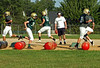 Members of the Lansdale Catholic football team at morning practice.    Monday August 11, 2014.   Photo by Geoff Patton