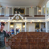 Beck touring Faneuil Hall
