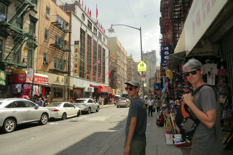 Beck and Brandon exploring Chinatown