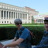 Chilling out in front of Butler Library at Columbia University