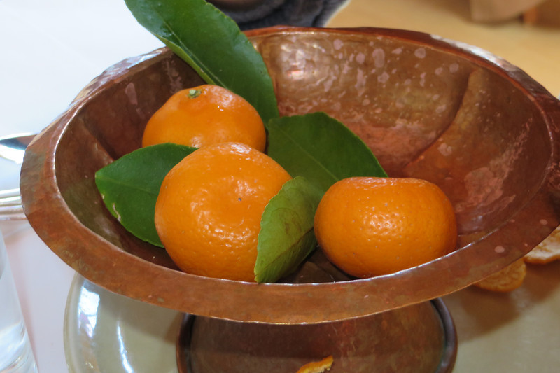 A BOWL OF CHURCHILL-BRENNEIS ORCHARDS KISHU TANGERINES