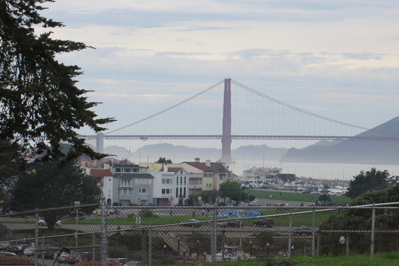 View of Golden Gate Bridge from Fort Mason