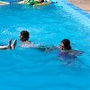 Kids playing in pool