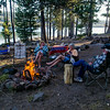 campfire time at Medicine Lake