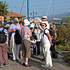 Poros, we collect on the quay awaiting the water taxi.