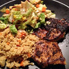 Pork Chop, Couscous, and Salad