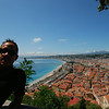 Nice - View from the top of Le Château (Castle Hill)