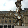 Saint Lazare Train Station - Clock Sculpture
