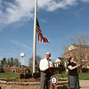 Dr. Bonner speaking at the flag raising ceremony for the new brand at Gardner-Webb University.