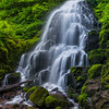Fairy Falls, from the side this time.<br /> <br /> In order to get the entire view to fit I created a series of 8 photos and stitched them together. It resulted in a 73 megapixel image, which I then cropped down to the 47 megapixel final image you see here.