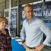 "US Rep Sean Patrick Maloney speaks with Lorraine McNeill during his ""Speak with Sean"" series, his local neighborhood office hours, in New Windsor, NY on Saturday, July 19, 2014. Hudson Valley Press/CHUCK STEWART, JR."