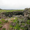 Sammi entering Raufarholshellir -- an old lava tube we could hike in!