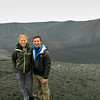Sammi and I on the Hverjall (Hverfell) Crater!