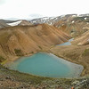 I hiked up over a little crest and came upon this beautiful silt lake!