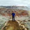 Me at a geothermal area along the Laugahraun hike