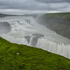Gullfoss, the most crowded spot in Icelanded!