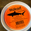 One of the Icelandic delicacies is Hákarl ... basically it's Greeland shark or sleeper shark which has arsnic in its blood. To get the shark meat to stop being poisonous it gets buried in the ground for 4-5 months to ferment and dry out. It becomes edible and wallah! It smelled disgusting but tasted neither good nor bad. Kinda reminded me of Tofu!