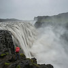 Andy photographing Dettifoss, the most powerful waterfall in Europe