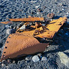 Part of an english shipping vessel, the Grimsby fishing trawler Epine (GY7) that crashed and washed ashore on the beach. It wrecked on March 13,1948.