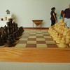 Larry Thomas woodworking show in TSC Art Gallery.