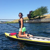 Paddleboarding along Gas Works