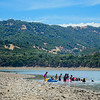 Campers on the Northern shore of Lake Mendocino enjoy swimming on a hot Saturday afternoon. (Nathan DeHart-Ukiah Daily Journal)