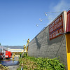 Fire broke out at the Golden Penny restaurant yesterday at about 5 P.M. shutting down both lanes of traffic on South State Street.(Nathan DeHart-Ukiah Daily Journal)