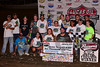 Jackie Boggs and crew  in Victory Lane