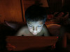 60 last night Joseph in the glow of iPad