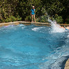 Dirk turns the pool into a jacuzzi