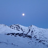 Moon Set Over Val Thorens