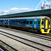 158833 stands at Cardiff Central working the 07:59 Maesteg - Cheltenham Spa 07/07/14