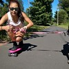 2014-09-07 Elise Mesa Penny Board Dog Walk Canton Trail