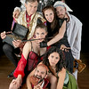 The cast as the Seven Deadly Sins in DOCTOR FAUSTUS.  Photo by Michael Bailey.