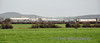 A view of Laois Train Care Depot from the R445 Road. 22061, 22028 & 22033 are pictured in the Dublin End Sidings of the depot. Thurs 06.02.14