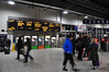Passengers mill about the concourse at Cork Kent Station. Fri 17.01.14