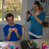 Easter egg dyeing party
